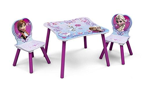 Tavolino Disney Legno.Disney Frozen Set Tavolino E 2 Sedie In Legno