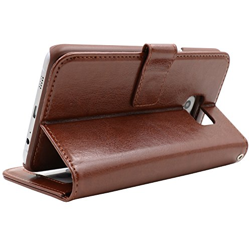 AMOVO Samsung Galaxy S6 Edge Plus Hülle und Brieftasche ,Herausnehmbare Schutzhülle, 2 Aufstellmöglichkeiten, Hochwertiges Kunstleder, Portmonee-Schutzhülle mit Aufstellfunktion, Geschenkverpackung (C Pink