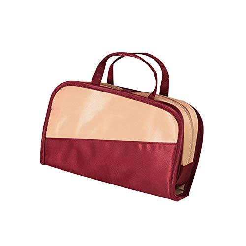 Lässige Reise-Kosmetiktasche, wasserdicht, zum Waschen von Beauty, Aufbewahrung, Make-up-Organizer, separates Zubehör Red Makeup Bag