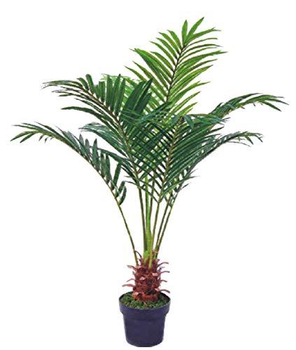 Palmenbaum Palme Arekapalme Kunstpflanze Kunstbaum Künstliche Pflanze 120cm Decovego