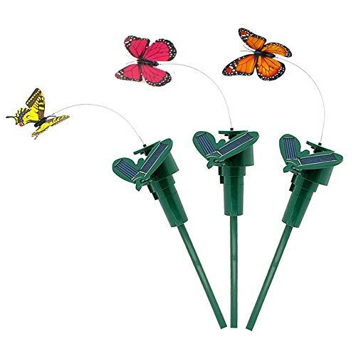 olarbetriebene Fliegende flatternde gefälschte Schmetterling Yard Bunte Garten Stake Ornament Dekor Zufällige Farbe ()