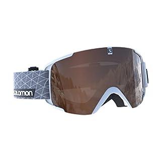 Salomon, Unisex Ski Goggles, Variable Weather, Tonic Orange Lens with Flash Mirror (Interchangeable), Airflow System, XVIEW ACCESS, White, L39903600