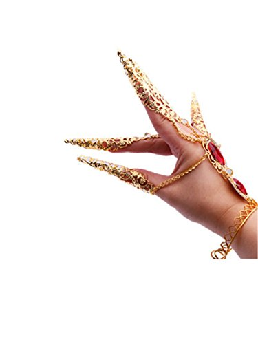 Bauchtanz Indischer Tanz Pfau Nägel Zurück von Finger Handketten Zubehör Gold