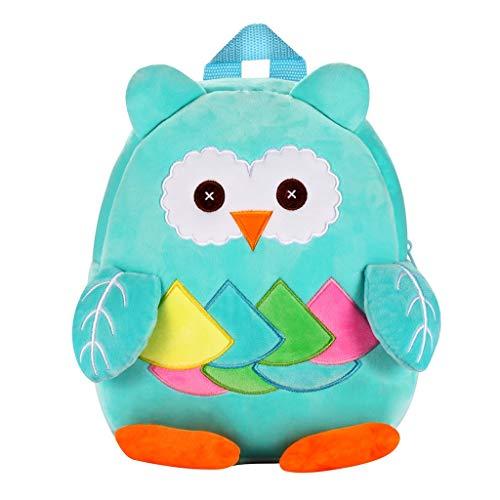 Dorical Kindergartenrucksack für Kinder Kleinkinder Süß Cartoon 3D Animal Kinder Rucksack,Kinderrucksack Schule Tasche für Baby Jungen Mädchen 1-3 Jahr(B)