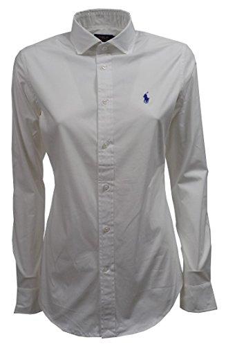 Polo Ralph Lauren Damen V33IG270BG207 Hemd, Weiß (White B1426), Large (8)