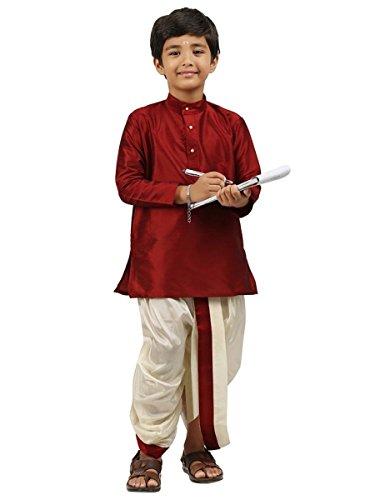 Kinder-Jungen-Kurta-Dhoti-Set-indisch-Ethnischen-Kultur-Fancy-Party-Kleid-Baumwolle-