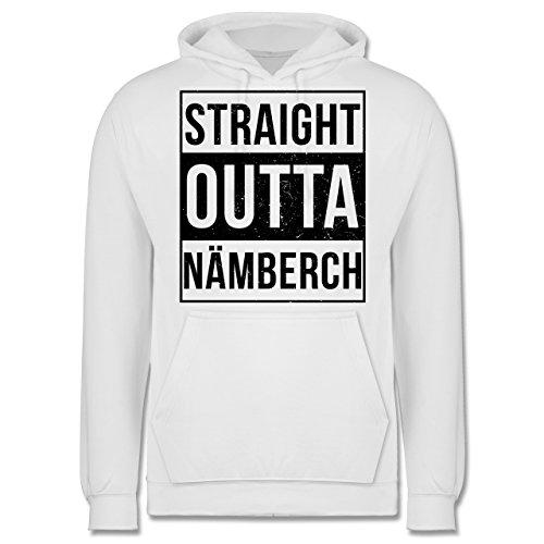 Franken Männer - Straight Outta Nämberch schwarz - JH001 Herren Kapuzen Pullover Weiß