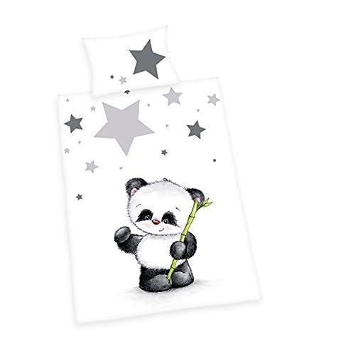 Bébé Panda - Herding 2485201063 Parure de Lit pour Bébé