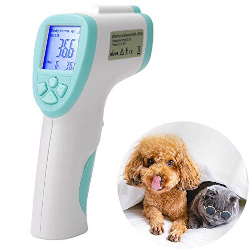 DHQSS Stirnthermometer Ohrthermometer Fieberthermometer, Thermometer für Babys, Erwachsene und Objekte,1 Sekunde Messzeit, Speicherfunktion, Hochtemperaturalarm,Blau