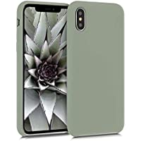 kwmobile Funda Compatible con Apple iPhone X - Carcasa de TPU para móvil - Cover Trasero en Gris Verdoso