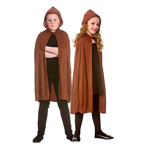 Hooded Cape - Kids - BROWN **NEW** *NEW CODE*