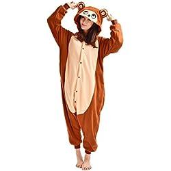 DarkCom Adulte Pyjama Déguisement Combinaison unisexe animal Onesies Grenouillère Brun Singe - Taille L pour la Hauteur(171CM-180CM)
