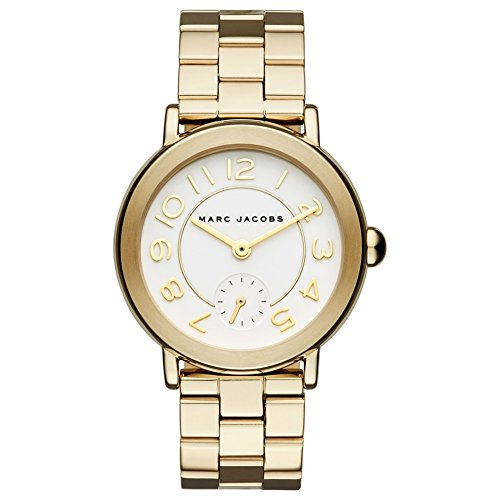 Marc By Marc Jacobs Women's Watch Analogue Quartz Stainless Steel Gold MJ3470