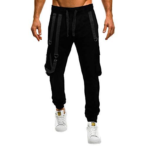 Pantalones Hombre Casual,ZARLLE Deportivo Jogger Color sólido Estilo Urbano Casual Running Pantalones...