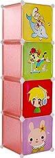 Fantasy India Modular Almirah For Kids - 4 Shelves(Multicolor)