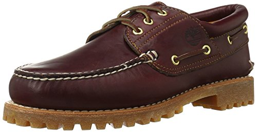 Timberland Authentics 3 Eye Classic, Chaussures Bateau Homme, Marron (Burgundy Pull Up), 47.5 EU