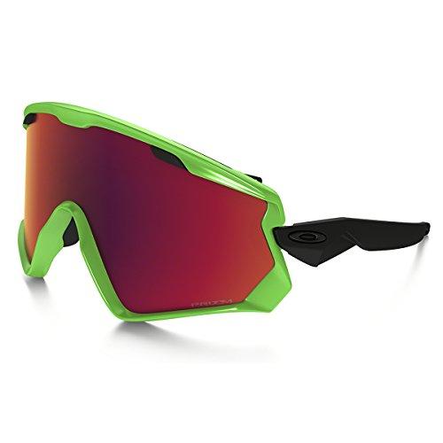 Oakley Herren Wind Jacket 2.0 707204 0 Sportbrille, Grün (80S Green/Prizmtorchiridium), 99