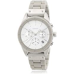 DKNY Women's Quartz Watch Bowery Chrono NY8580 with Plastic Strap