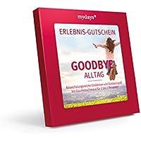 Erlebnis-Gutschein   mydays   GOODBYE ALLTAG   50 Erlebnisse an über 330 Orte   Inklusive Geschenkbox