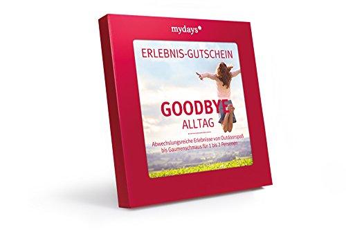 Erlebnis-Gutschein | mydays | GOODBYE ALLTAG | 50 Erlebnisse an über 330 Orte | Inklusive Geschenkbox