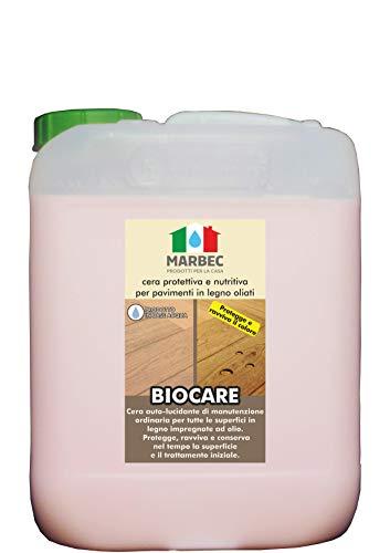 Marbec - biocare 5lt | cera di manutenzione e protezione per pavimenti in legno impregnati a olio