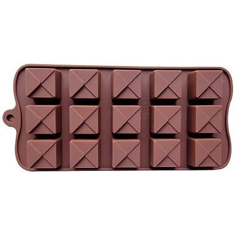 Andonger 15 cavit¨¤ antiaderente Piazza del gel del silicone muffa della torta di cioccolato mestiere Candy Sapone Portaghiaccio muffa Bakeware fai da te