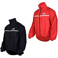 Foxter Men Waterproof Cycling Jacket Windproof Breathable Bike Rain Coat Lightweight High Visibility