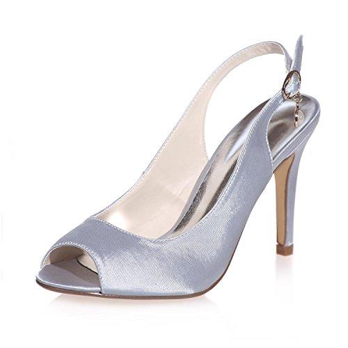L@YC Scarpe Da Sposa Da Donna Peep Toe In Seta / Party / Party Night & More Colors 5623-18 Gray