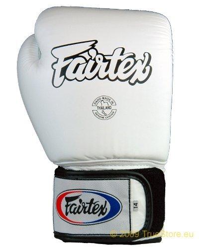 Fairtex BGV1 - Guantoni da box Tight Fit in pelle, Bianco (bianco), 10 Unzen