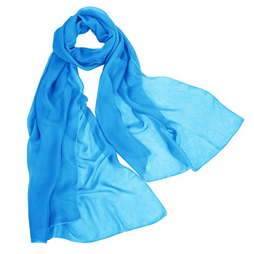 Bbonlinedress Schal Chiffon Stola Scarves in verschiedenen Farben Light Blue 180cmX72cm