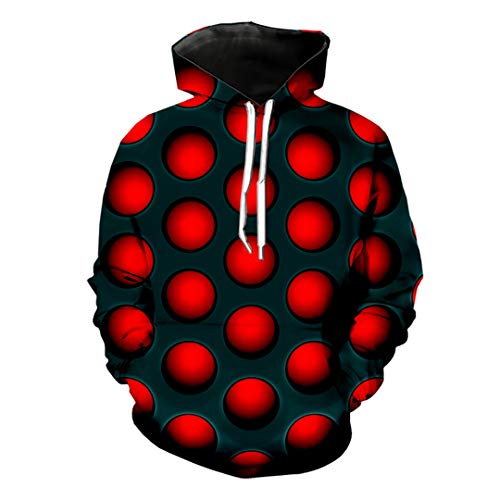 Unisex 3D-Druck Dartscheibe Schwarz Rot Chrom Metallgitter T-Shirt Sweatshirt mit Kapuze Harajuku Shirt 3 Asian Size XXXL (Cherokee Herren T-shirt Schwarz)