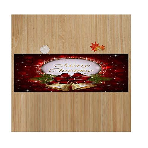 SamMoSon Buon Natale Benvenuto Zerbini Tappeti per la casa per Interni 40x120CM - Tappetino per Natale Merry Christmas 40 * 120 cm 4D