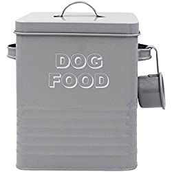 Lesser & Pavey New Sweet Home Hundefutter Dose mit Schaufel, Metall, grau, 18x 15x 25cm