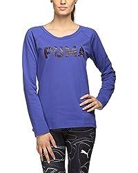 Puma Womens Cotton Sweatshirt (59148221_Royal Blue_M)