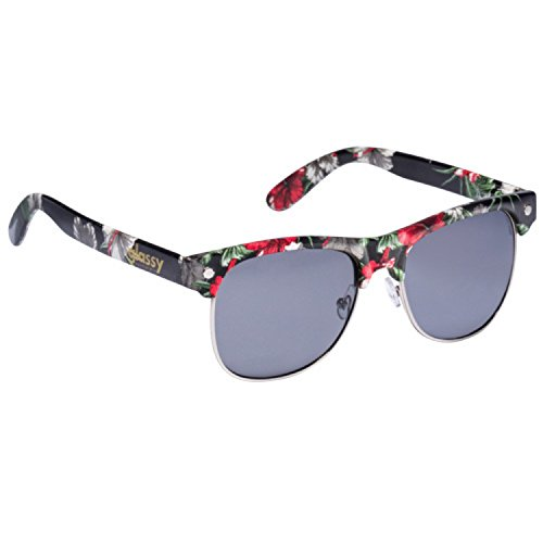 GlassY Herren Sonnenbrille Shredder Black Floral
