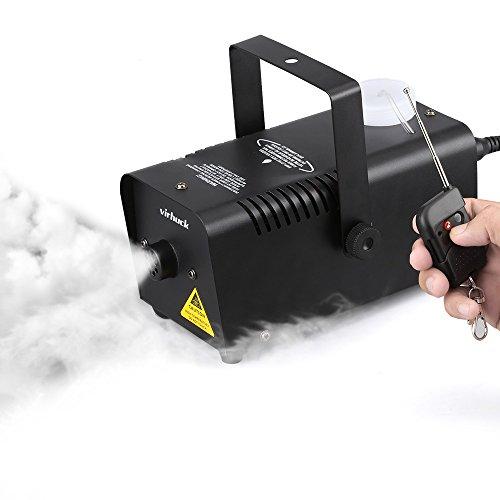 Virhuck 400W Tragbare Nebelmaschine, Große Ausgabe Halloween und Party Nebelmaschine, mit Drahtloser Fernbedienung - Schwarz