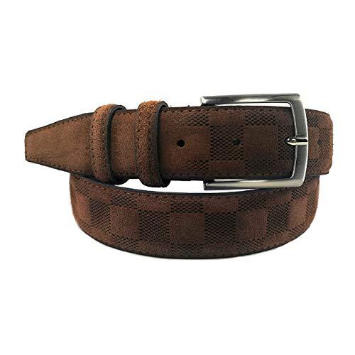 3cb4601542 MYB Cintura per uomo in camoscio lavorato 35 mm - Vera Pelle - Made In Italy