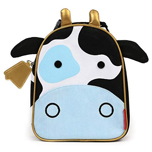 Skip Hop Zoo Lunchies - Bolsa térmica, diseño cow, multicolor