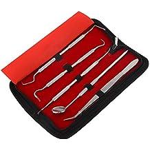 OKBY Kit de Dentista - Juego de Herramientas de Dentista de Acero Inoxidable Profesional de 5