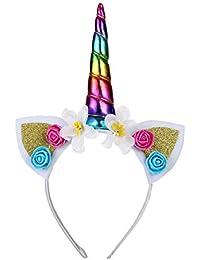 Amazon.es  unicornios - Multicolor   Diademas y cintas de pelo ... 722b2dc815a2