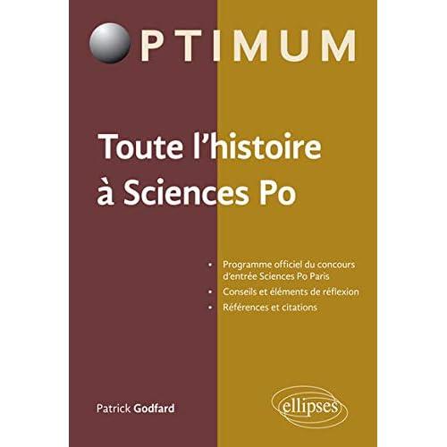 Toute l'Histoire à Sciences Po - Programme officiel du concours d'entrée Sciences Po Paris