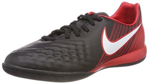 Nike Unisex-Kinder JR Magistax ONDA II IC Fußballschuhe, Mehrfarbig (Black/University Red/Bright Crimson/White 061), 36 EU -