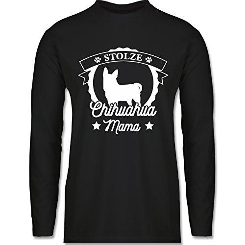 Shirtracer Hunde - Stolze Chihuahua Mama - Herren Langarmshirt Schwarz