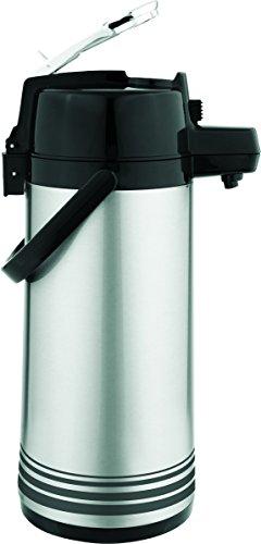 Aktualisierung Internationale LSVL-25-BK-SF 2.5 Liter Airpot Shell und Liner mit Lever Top - Brushed Stainless Steel Update Airpot