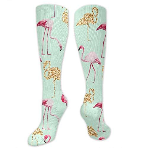 deyhfef Men Women Boys Girls Flamingo Mint Green 3D Compression Socks(20-30 mmHg)- Medical Graduated Compression Stockings for Sports Running Nurses Diabetic Flight - Boys-club-fitness-studio