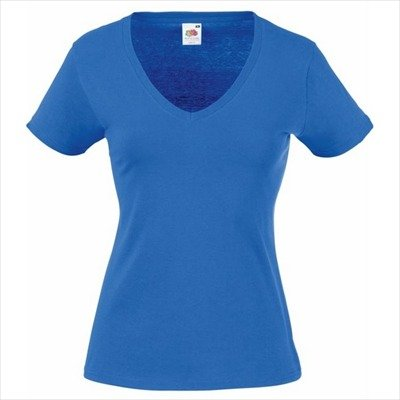 Fruit of the Loom - Lady-Fit Valueweight V-Neck T - Modell 2013 / Royal, M M,Royal Blue
