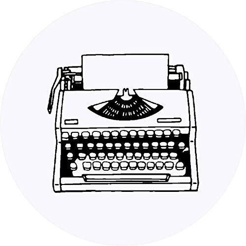Azeeda 24 x 40mm Runden 'Vintage Schreibmaschine' Aufklebern / Stickers (SK00014303)
