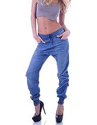 Damen Boyfriend Jeans Boyfriendcut Hose Baggy Haremshose XXS 32 XS 34 S 36 M 38 L 40 XL 42 XXL 44