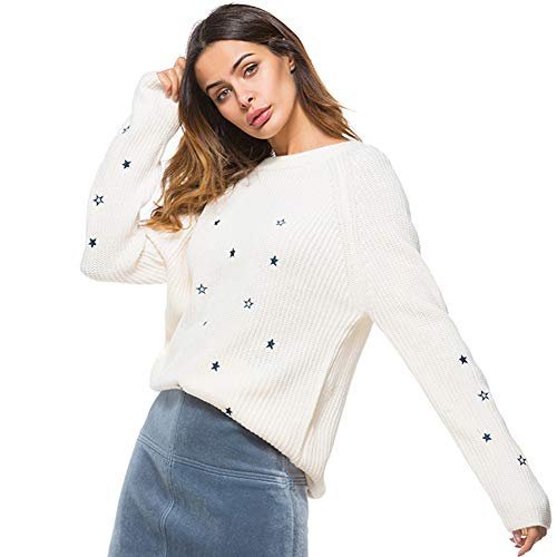 ZYCCL Damen Pullover, Rundhals Pullover Mode Wilden Pullover Herbst Und Winter Damenbekleidung -