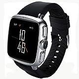 AXDNH Männer Smart Watch Sports Positionierung Bluetooth-Kommunikation Herzfrequenzmonitor Pedometer kann Telefon WiFi-Netzwerk HD-Kamera Musik Spielen Smart Armband anrufen,Silver